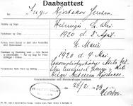 Dåbsattest Inge Hjortskov Jensen