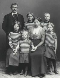 Familien Hjortskov 1912