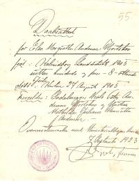 Dåbsattest Else Hjortskov